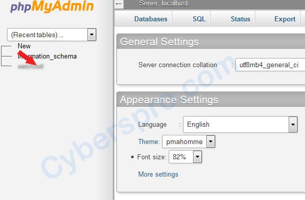 select-database